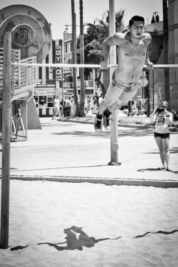 Muscle Beach, L.A. - seen by streb