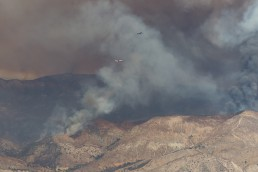 Blue Cut Fire, Cajon Pass, California - seen by streb
