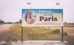 City of Paris, Idaho, USA - seen by streb